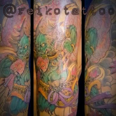 #progress #fujin #oni みたいなぁ #tattoo #japanese #まだ途中 #風神 #タトゥー #刺青