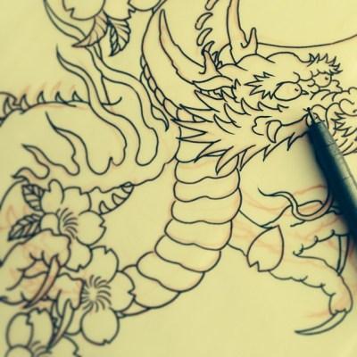 #sketch #dragon #tattoo #design
