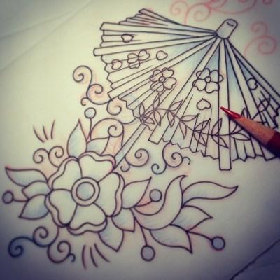 #sketch #cocktail #umbrella #parasol #カクテル #tattoo #design #パラソル #タトゥー #デザイン