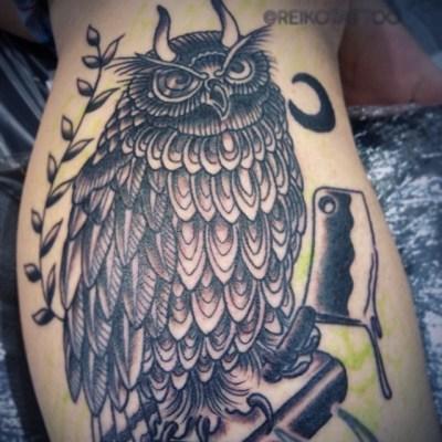 #inprogress #owl #tattoo #フクロウ #タトゥー