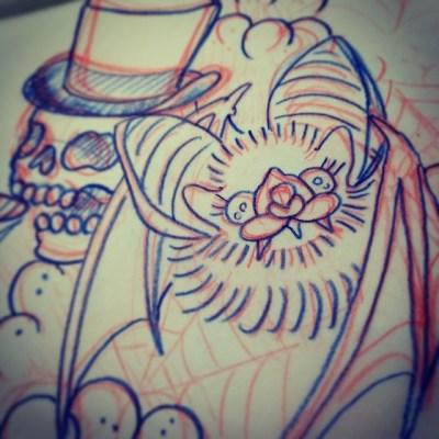#sketch #bat #tattoo #コウモリ #タトゥー #デザイン #大きなお耳