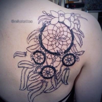 #dreamcatcher  #inprogress #tattoo #ドリームキャッチャー #タトゥー