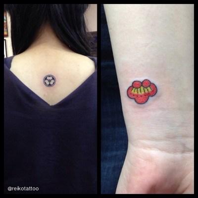 #家紋 #梅 #ちっちゃなタトゥー #FamilyCrest #Ume #JapaneseApricot#TinyTattoo #tattoo