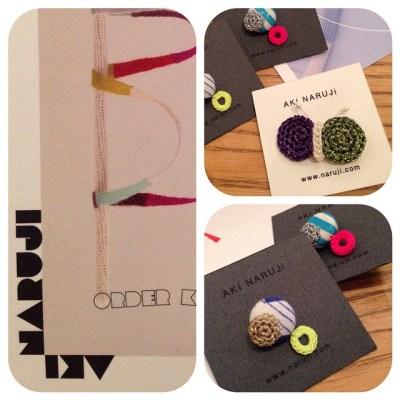 可愛いニットのアクセサリーAccessories by Aki Narujiwww.naruji.com #knitting #accessories #pierce #earring #AkiNaruji #アクセサリー #秋のおしゃれ