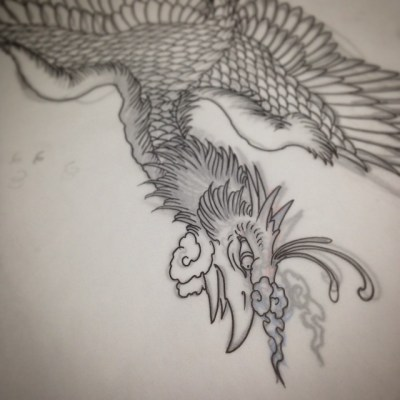#sketch #phoenix #tattoo #design