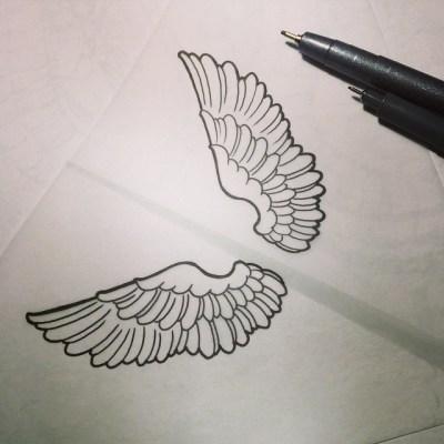 #初心に戻るw#immortal #design #tattoo  #girlytattoo #wings #翼 #羽根 #定番 #タトゥー #デザイン #ガールズタトゥー #reikotattoo #studiokeen #名古屋 #大須 #矢場町