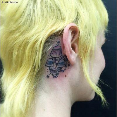 #mushroom #fairyinkcaps #tattoo #きのこ #イヌセンボンダケ #タトゥー #reikotattoo #studiokeen #名古屋 #矢場町 #大須