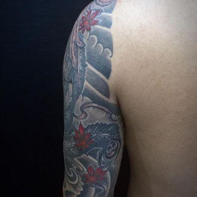 #鳳凰 #紅葉 #phoenix #japanesemapleleaves #タトゥー #刺青 #tattoo #irezumi #reikotattoo #studiokeen #名古屋 #矢場町 #大須