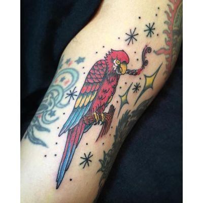 #オウム #タトゥー #parroth #tattoo #reikotattoo #studiokeen #japan  #nagoyatattoo #名古屋 #矢場町 #大須 #hocuspocustattoo #静岡