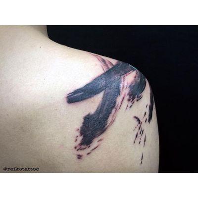 #ブラッシュアート #ブラッシュワークス #タトゥー #brushart #brushwork #tattoo #reikotattoo #studiokeen #japan #nagoyatattoo #tokyotattoo #名古屋 #東京 #静岡 #矢場町 #大須 reikotattoo.com