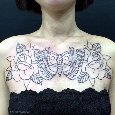 #てふてふ #蝶と薔薇 #蝶 #薔薇 #タトゥー #butterfly #roses  #tattoo #reikotattoo #studiokeen #japan #nagoyatattoo #tokyotattoo #名古屋 #大須 #矢場町 #東京 #静岡