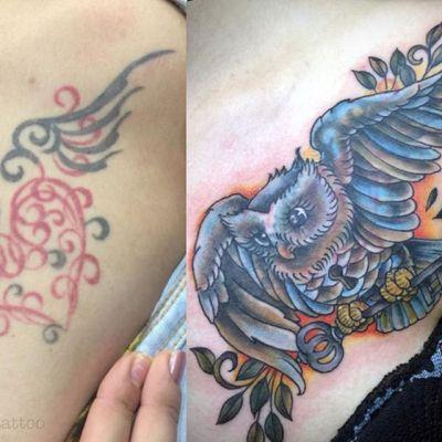 #カバーアップタトゥー #タトゥーカバー #tattoo #reikotattoo #studiokeen #japan #nagoyatattoo #tokyotattoo #名古屋 #大須 #矢場町 #東京 #静岡 #hocuspocustattoo #shizuokatattoo