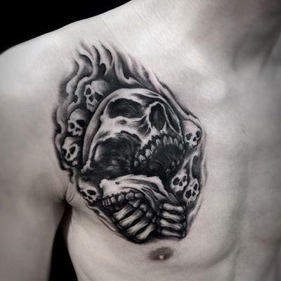 #ドクロ #スカル #skull ...#tattoo #reikotattoo #studiokeen #japan #nagoyatattoo #tokyotattoo #irezumi #タトゥー #刺青 #名古屋 #大須 #矢場町 #東京 #静岡 #hocuspocustattoo #shizuokatattoo