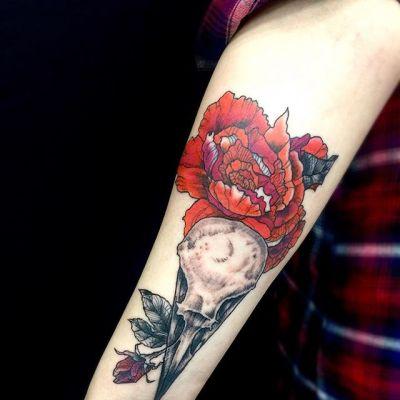 #カラスの頭蓋骨 #バラ #crowskull #rose ...#tattoo #reikotattoo #studiokeen #japan #nagoyatattoo #tokyotattoo #irezumi #タトゥー #刺青 #名古屋 #大須 #矢場町 #東京 #静岡 #hocuspocustattoo #shizuokatattoo
