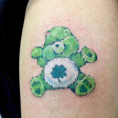 #goodluckbear #carebears #ケアベア #グッドラックベア ...#tattoo #reikotattoo #studiokeen #japan #nagoyatattoo #tokyotattoo #irezumi #タトゥー #刺青 #名古屋 #大須 #矢場町 #東京
