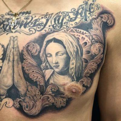 #マリア #ブラックアンドグレー #maria #blackandgray ...#tattoo #reikotattoo #studiokeen #japan #nagoyatattoo #tokyotattoo #irezumi #タトゥー #刺青 #名古屋 #大須 #矢場町 #東京