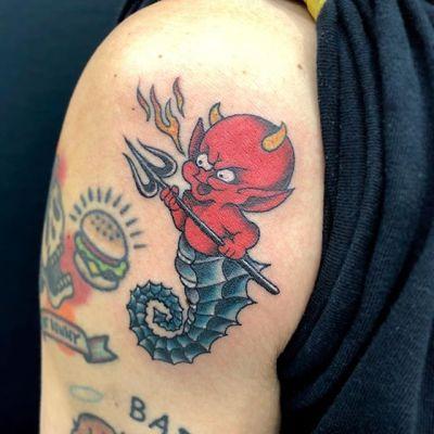 #リトルデビル #littledevil #hotstuff #タツノオトシゴ #Seahorse ...#tattoo #reikotattoo #studiokeen #japan #nagoyatattoo #tokyotattoo #irezumi #タトゥー #刺青 #名古屋 #大須 #矢場町 #東京