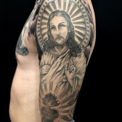 #jesus #キリスト ...#tattoo #reikotattoo #studiokeen #japan #nagoyatattoo #tokyotattoo #irezumi #タトゥー #刺青 #名古屋 #大須 #矢場町 #東京