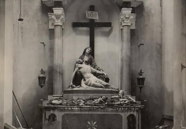 World War One Destruction, Altar in the church of Segusino