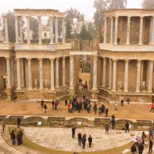 Teatro romano de Mérida en Extremadura província de España