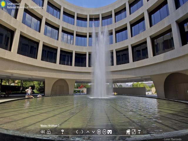 Imagen virtual de los exteriores del Museo de Hirshhorn en Estados Unidos