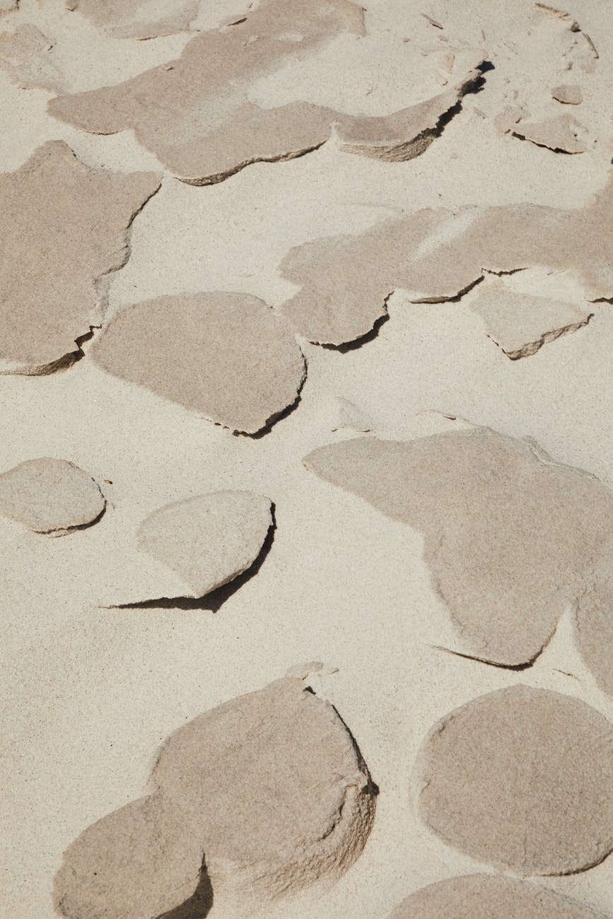 surface with dry sand on ground