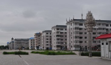 Canal-side park housing