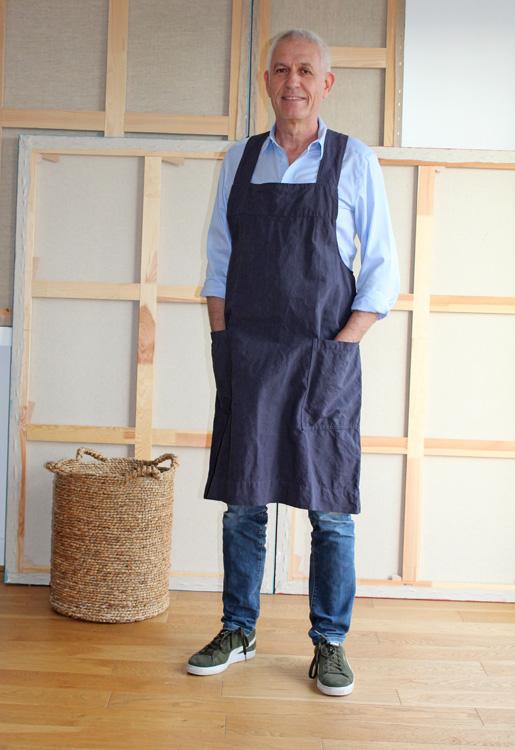 tablier japonais leopold homme coton lin recycle gris orage