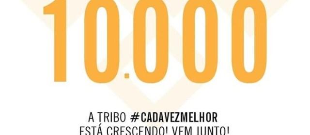10.000 seguidores no Instagram! Muito Obrigado!