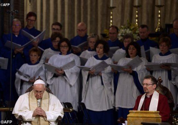 pape François vêpres paroisse anglicane Rome