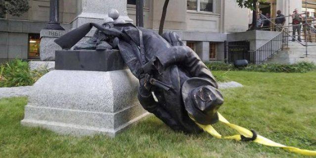 Trump Statues Confédérés guerre histoire mondiale Maire New York Pétain