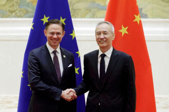 UE Chine Nouvel ordre mondial Jyrki Katainen Liu