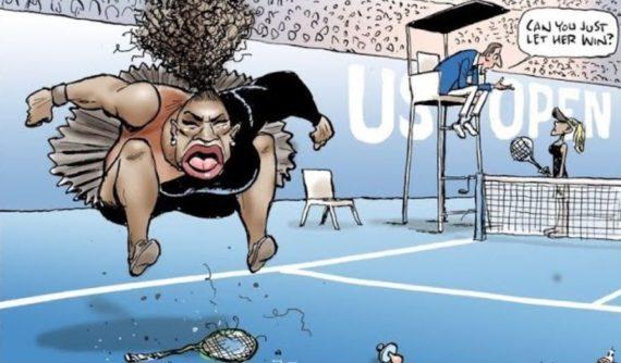 Droit Caricature Serena Williams Tennis Totalitarisme