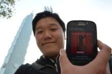 Februar 2013: Ein weiterer Beweis unserer Internationalität. Unser Hörer Chidane in Taiwan vor dem ehemals höchsten Gebäude der Welt, dem Taipei 101