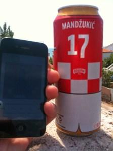 """Juli 2014: Unser Hörer """"Wunschkind75"""" drückt auf der kroatischen Insel """"Vir"""" dem kroatischen Team bei der Fussball WM die Daumen - und hört dabei """"reingemacht"""". Sehr schön :-)"""