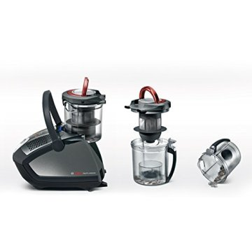 Bosch BGS6PRO4 Bodenstaubsauger HomeProfessional, EEK B, beutellos, QuattroPower System, Hartbodendüse, XXL-Polsterdüse, titanium -