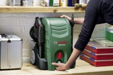 Bosch DIY Hochdruckreiniger AQT 35-12+, Hochdruckpistole, Lanze, Terrassenreiniger, Wasserfilter, 5 m Hochdruckschlauch, 5 m Netzkabel, Düse, Karton (1500 W, 120 bar, 350 l/h) -
