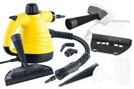 Sichler Haushaltsgeräte Tragbarer Dampfreiniger mit großem Zubehör-Pack, 1.000 W -