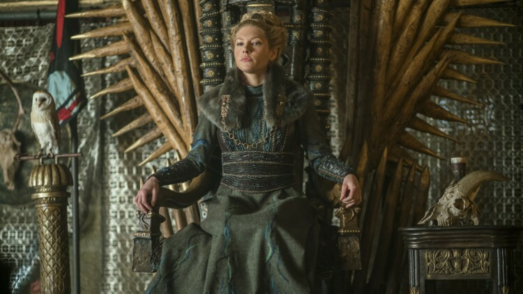 La reina Lagertha en Vikings