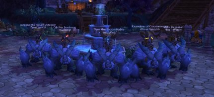 Gildin'a Warlords of Draenor Challenge Mode Dungeon team on their silver yetis.