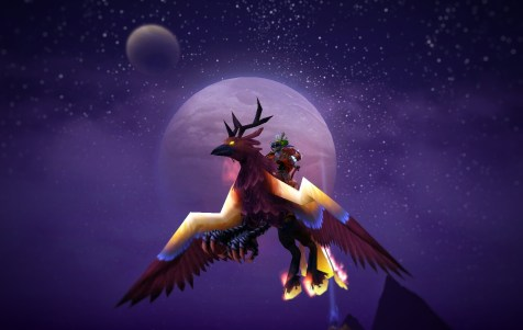 Marty Feeb (@MartyFeeb) on his favourite mount, the Blazing Hippogryph