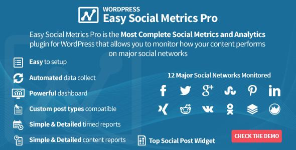 plugin easy social metrics pro