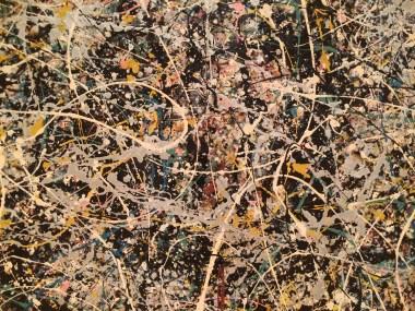Jackson Pollock, detail from Number 1, 1949, MOCA, Los Angeles