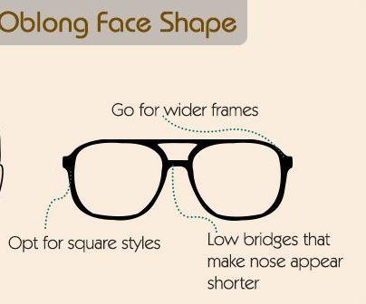 eye wear for oval shapes