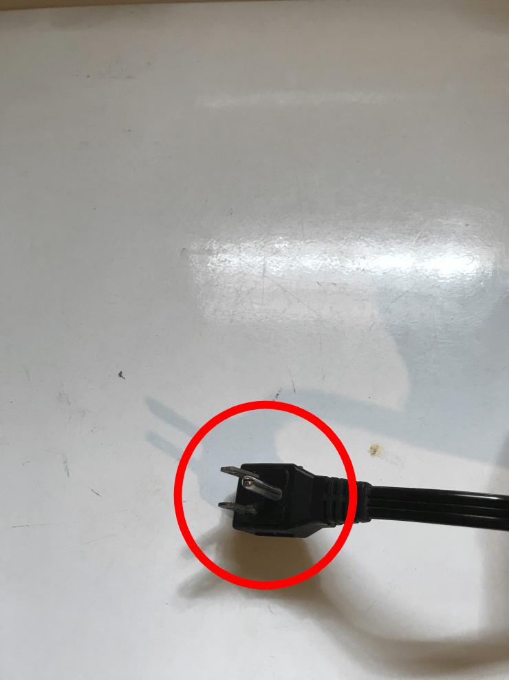 Unplug the washing machine