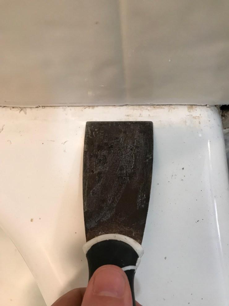 Scrape the Tub Clean