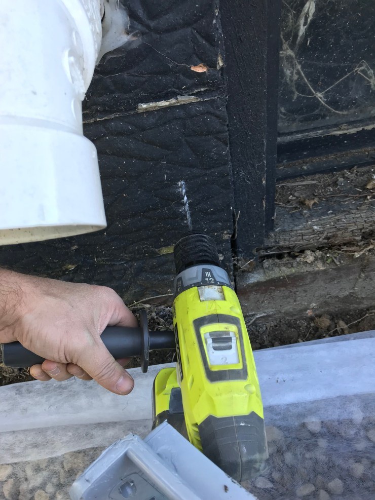 Drilling Through Concrete Wall