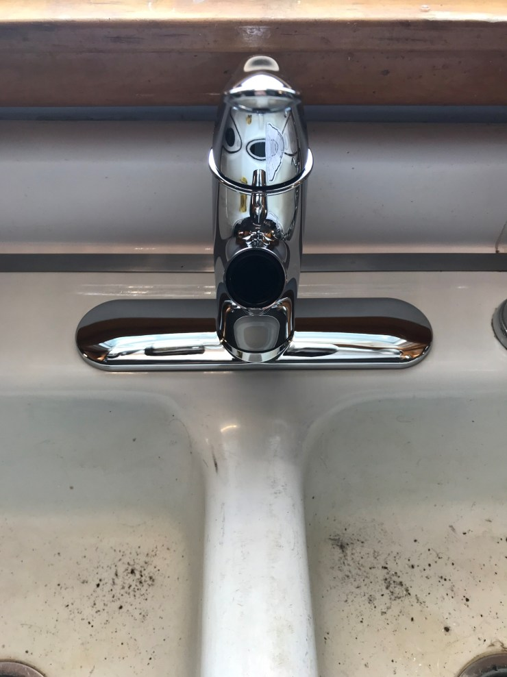 Single Hole Faucet Sitting on the Base