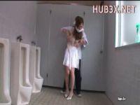 清楚系美人お姉さんがトイレで猿轡をされ強姦にレイプされる無理矢理犯している動画無料