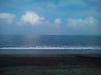 The ocean near the dunes